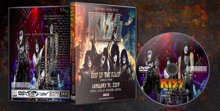 KISS - 2019-01-31 - Rogers Arena, Vancouver - HD-aud > DVD