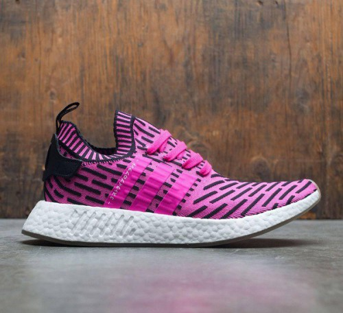 Mens Shoes Adidas NMD R2 Primeknit pink shock pink core black BY9697 Online Special Sales
