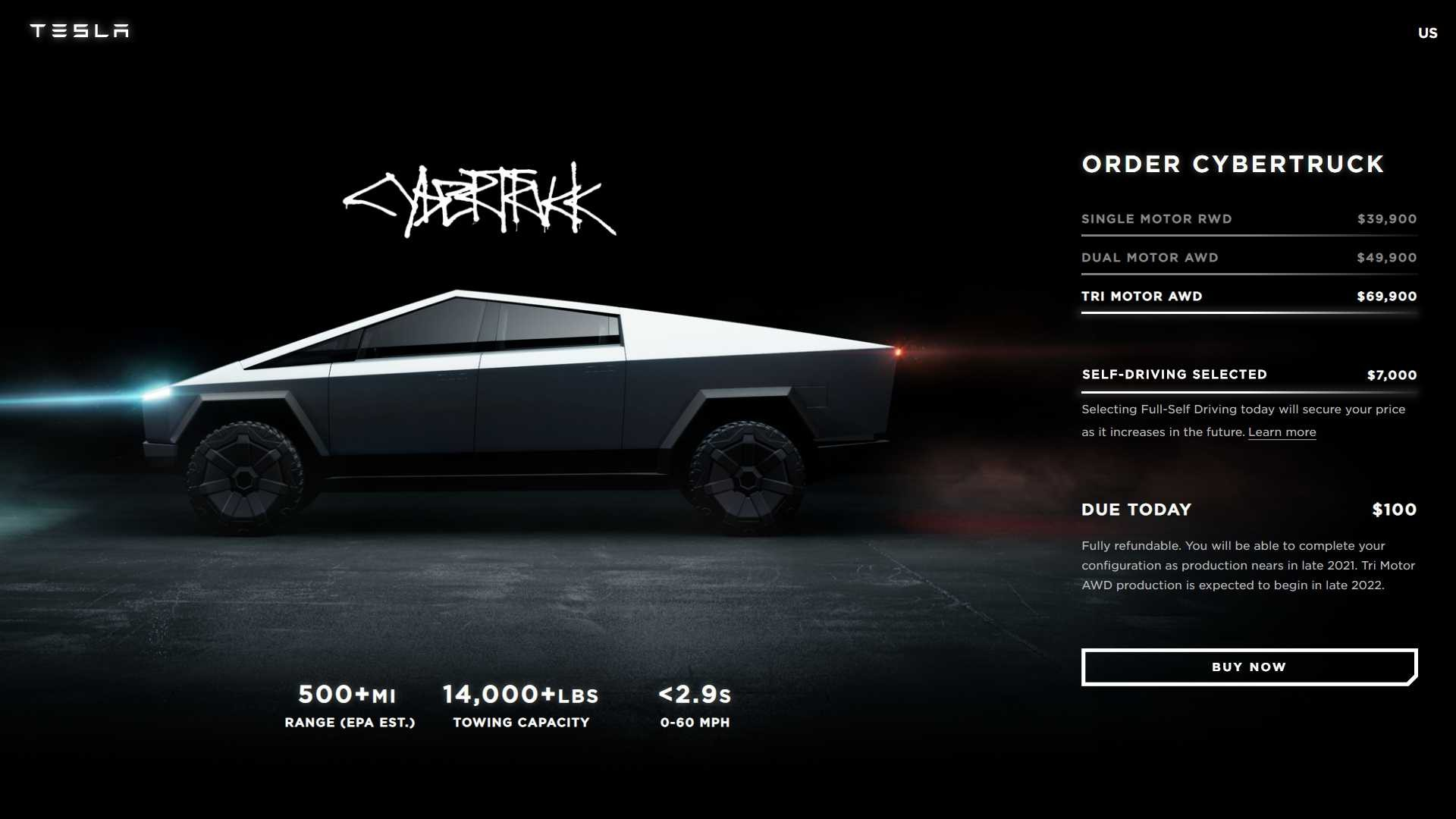check images of the live presentation of tesla cybertruck