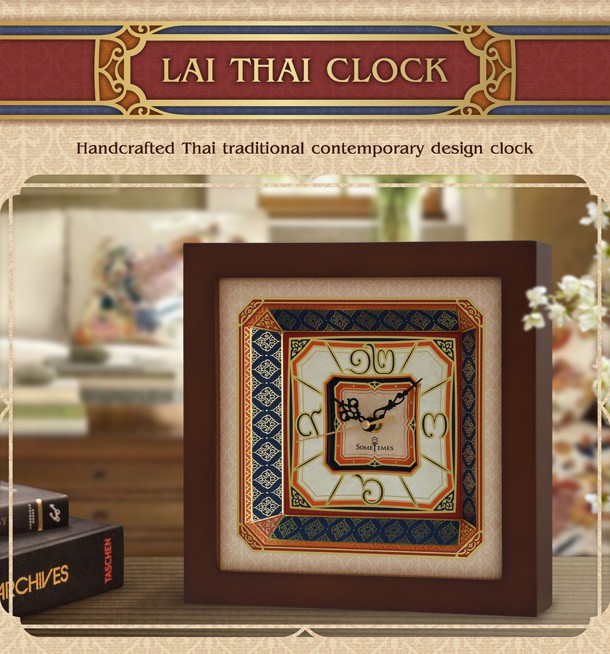 Traditional Thai style clock, Thai numerals clock, Thai numbers clock, Thai vintage clock TT001A