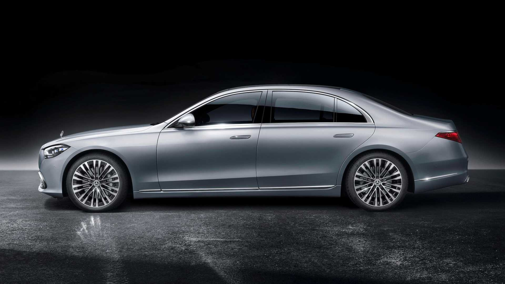 2021 mercedes benz s class side profile