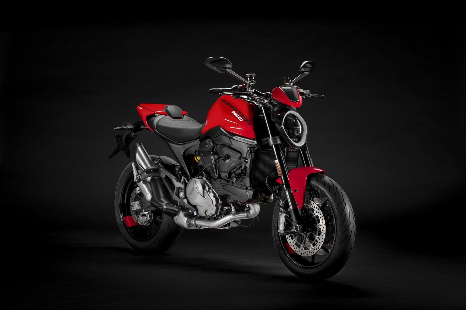 2021 ducati monster red front right bc25