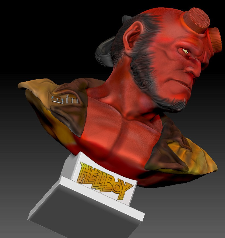 +Re: Hellboy bust Zbrush 3D
