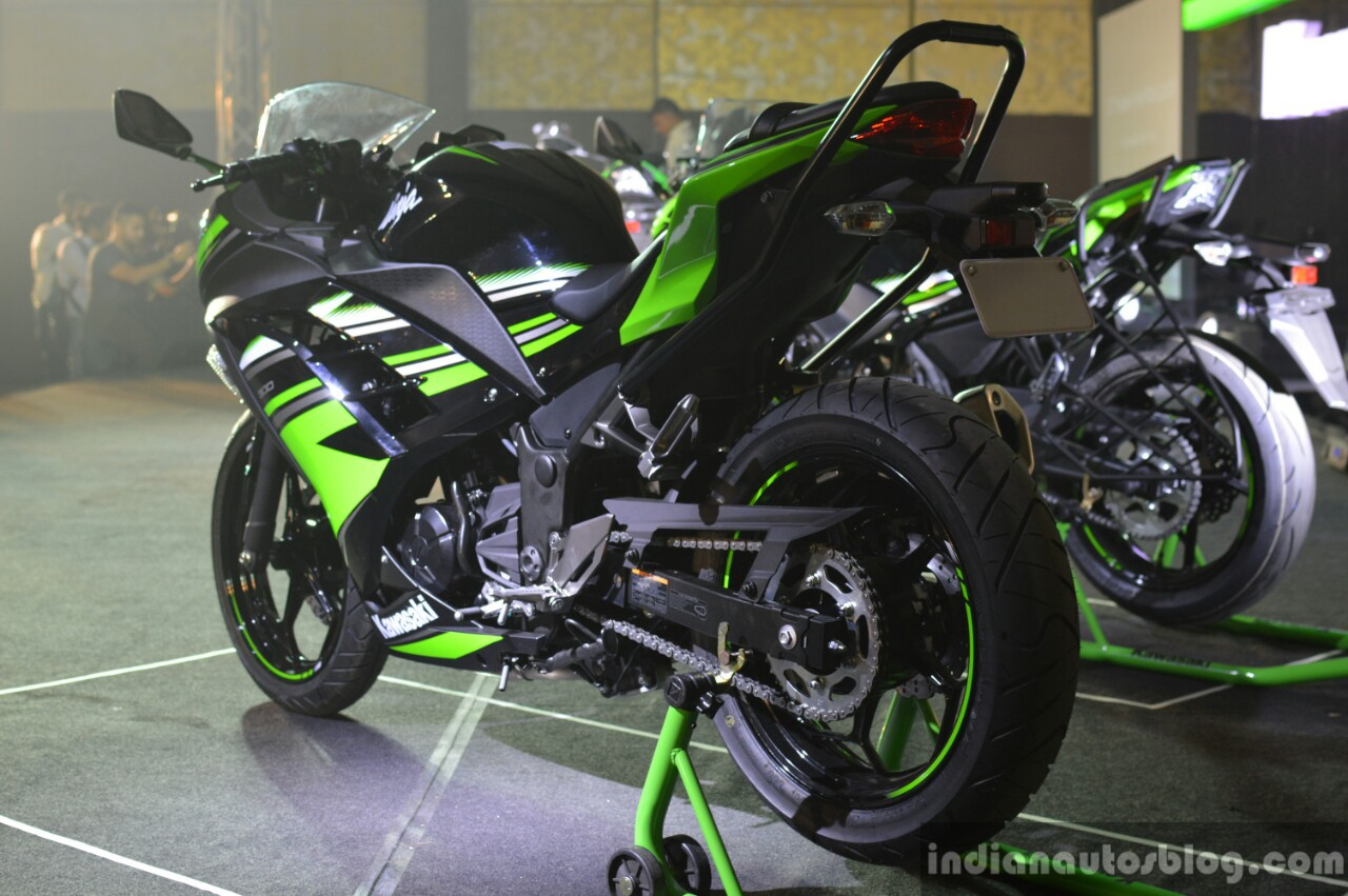 Kawasaki Ninja 300 rear three quarter India launch