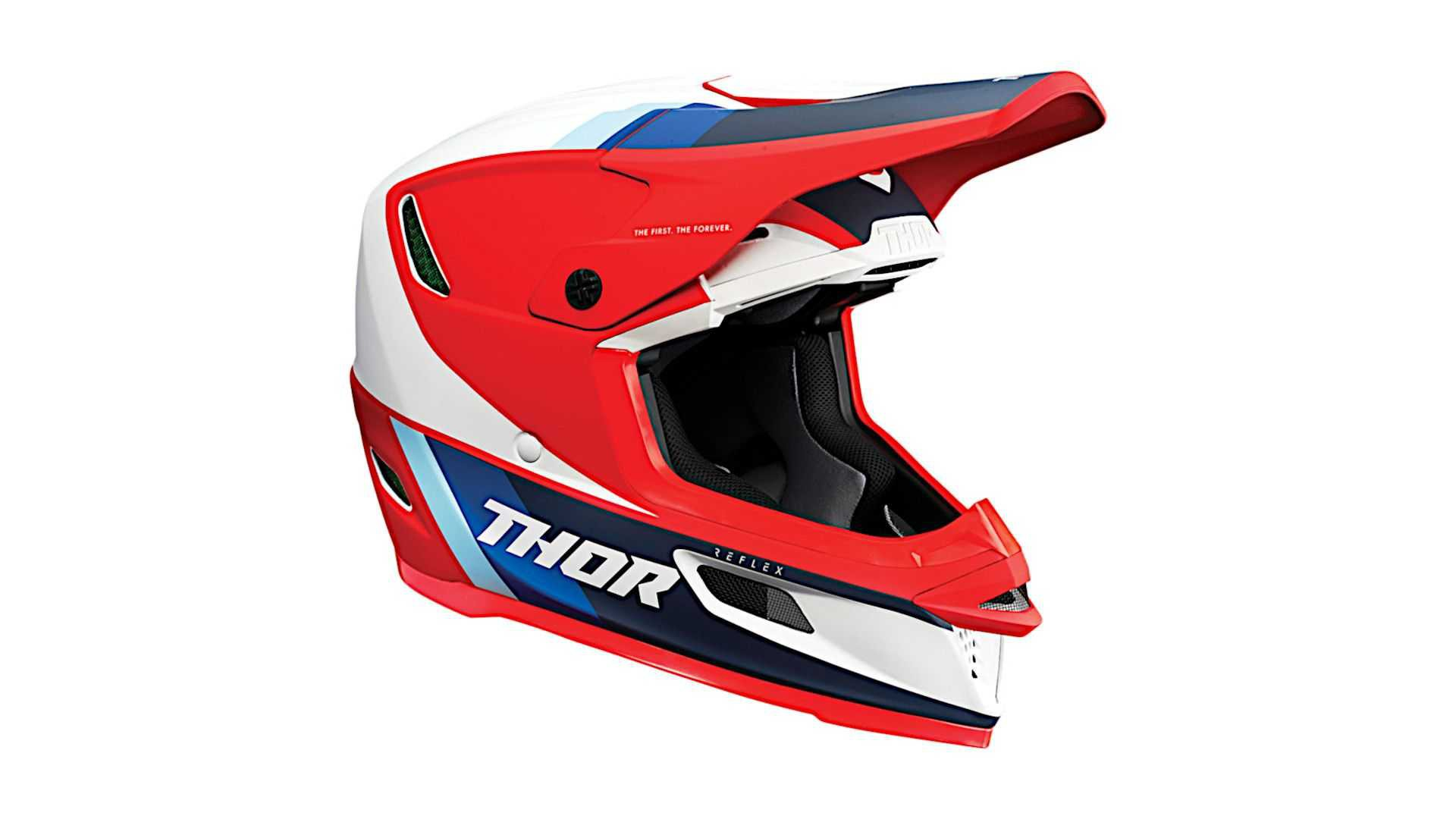 thor reflex koroyd mips helmet in apex red white and blue