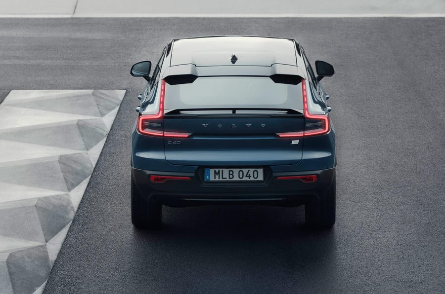 97 volvo c40 recharge 2021 official images static rear