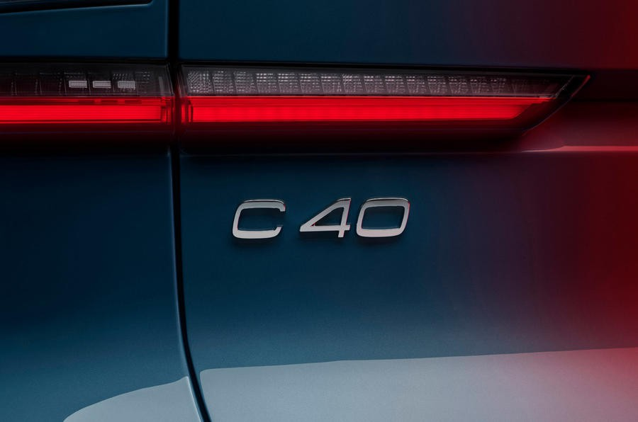 96 volvo c40 recharge 2021 official images rear badge