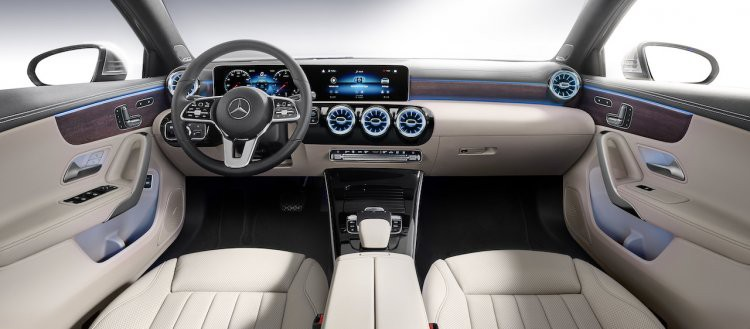 mercedes a class sedan interior 546c